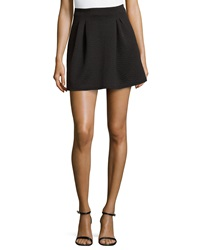 Romeo And Juliet Couture Floral Stitched Miniskirt Black