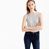 J.Crew Cotton Jackie Shell In Dot