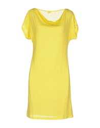 120 Lino Short Dresses Yellow
