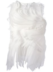 Gianluca Capannolo Twirled Pleats Top White