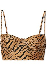 Vix Swimwear Tiger Print Underwired Bikini Top Sand