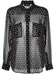 The Kooples Polka Dot Sheer Shirt Black