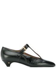 Laurence Dacade Vron Pointed T Bar Pumps Black