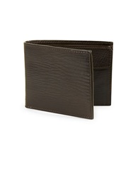 John Varvatos U.S.A. Leather Billfold Wallet Brown