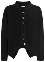High Touchy Cotton And Silk Blend Cardigan Black