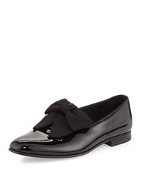 Versace Patent Loafer W Bow Black