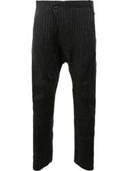 Masnada Slouch Knitted Trousers Black