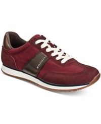 Tommy Hilfiger Men's Modesto Low Top Sneakers Men's Shoes Dark Red