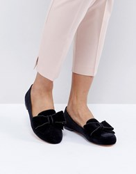 Office Fortress Bow Flat Shoes Black