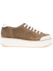 Flamingos 'Tatum' Trainers Leather Suede Foam Rubber Rubber Brown