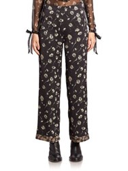 Etro Wildflower Printed Pajama Pants Black