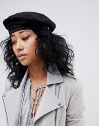 Brixton Structured Beret With Outside Rope Detail 00859 Black