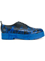 Comme Des Garcons Homme Plus Paint Splatter Oxford Shoes Black
