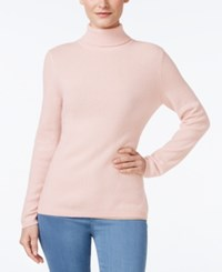 Charter Club Cashmere Turtleneck Sweater Only At Macy's 16 Colors Available Parasol Pink
