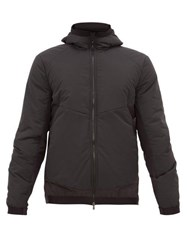 Sease Layered Hooded Technical Jacket Dark Grey