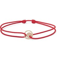 Luis Morais Cord And Gold Bracelet Red