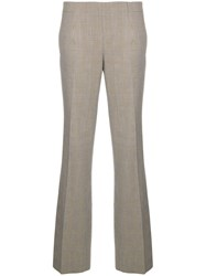 A.P.C. Houndstooth Plaid Flared Trousers Nude And Neutrals