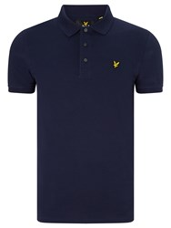 Lyle And Scott Plain Pique Polo Shirt Navy