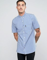 Lambretta Check Shirt With Shorts Sleeves Navy