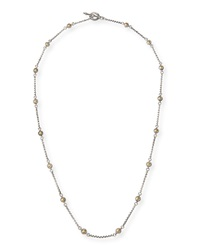 Aspasia Silver And 18K Hammered Bead Necklace Konstantino