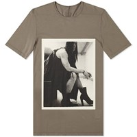 Rick Owens Drkshdw Photo Print Level Tee Grey