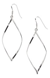 Argentovivo Women's Argento Vivo 'Marquise' Earrings Sterling Silver High Polish
