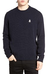 Psycho Bunny Men's Wool Blend Sweater Navy