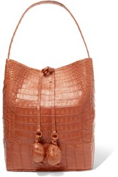 Nancy Gonzalez Crocodile Bucket Bag Tan Gbp