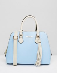 Silvian Heach Kettle Bag With Tassle Blue Cream