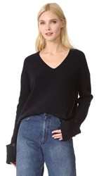 Helmut Lang Slouchy Sleeve Sweater Navy