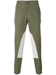 Alexander Mcqueen Patched Chino Trousers Men Cotton 48 Green