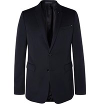 Berluti Midnight Blue Slim Fit Wool Twill Suit Jacket Navy
