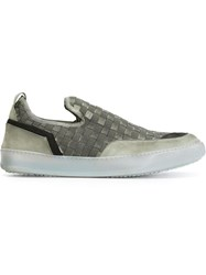 Bruno Bordese Woven Slip On Sneakers Green