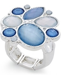 Styleandco. Style And Co. Silver Tone Ice Blue Stone Ring