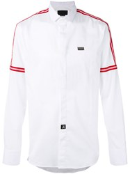 Philipp Plein Rain Shirt Men Cotton Spandex Elastane Xl White