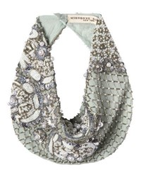 Mignonne Gavigan Le Charlot Beaded Scarf Necklace Light Blue