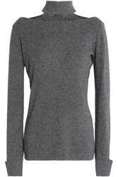 Bailey 44 Aristocratic Cutout Stretch Knit Turtleneck Sweater Anthracite