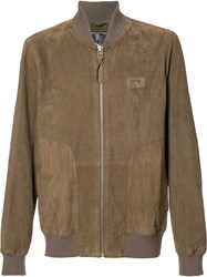 Prps Perforated Leather Bomber Brown