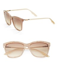 Brian Atwood 55Mm Square Sunglasses Rose Gold Rose
