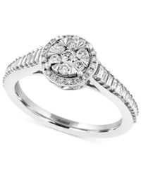 Effy Collection Effy Diamond Halo Engagement Ring 5 8 Ct. T.W. In 14K White Gold