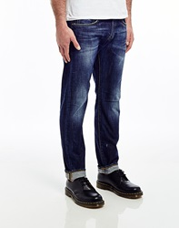 Edwin Ed55 11.05Oz Compact Indigo Denim Relaxed Tapered Jean Unwashed