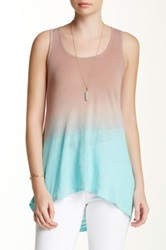 Green Dragon Desert Sun Drape Back Linen Tank Multi