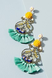 Anthropologie Seahorse Drop Earrings Turquoise