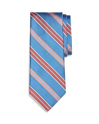 Brooks Brothers Alternating Stripes Classic Tie Blue