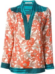 Etro Floral Kimono Yellow And Orange
