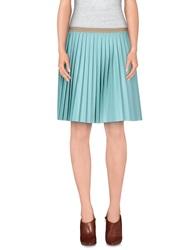 So Nice Knee Length Skirts Bright Blue