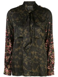 Mother Of Pearl Camouflage Print Blouse 60
