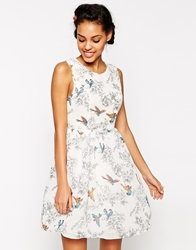 Traffic People Birds Of A Feather Prom Dress Cream