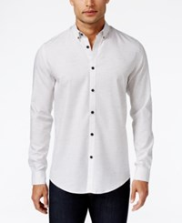 Alfani Men's Classic Fit Long Sleeve Shirt Only At Macy's Bright White
