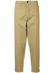 Bassike Cropped Tapered Trousers Brown